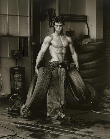 Herb Ritts-Fred with Tires-1984
