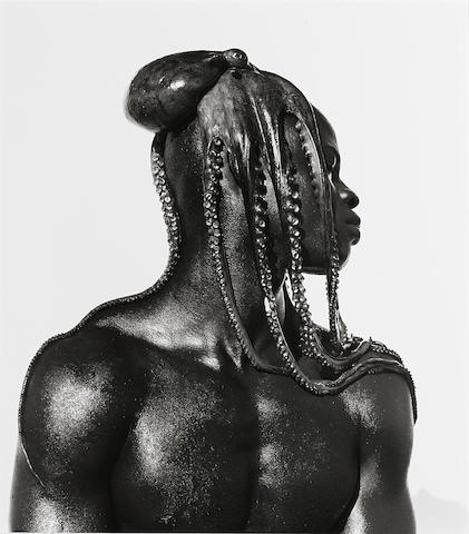 Herb Ritts-Djimon with Octopus, Hollywood-1989