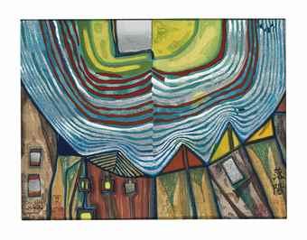Friedensreich Hundertwasser-Nana Hyaku Mizu-1972