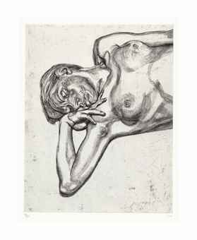 Lucian Freud-Head and Shoulders of a Girl-1990