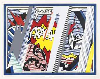 Roy Lichtenstein-Reflections on Crash, from The Reflections Series-1990