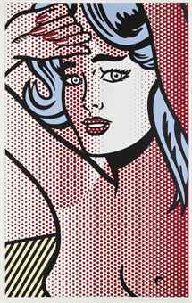 Roy Lichtenstein-Nude with Blue Hair-1994