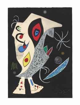 Joan Miro-Barbare dans la nuit-1976