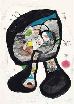 Joan Miro-Le Fantome de L'Atelier-1981