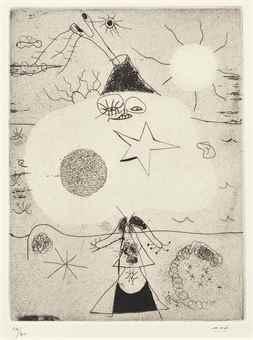 Joan Miro-Femme et Volcan-1938