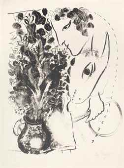 Marc Chagall-Profil du Peintre-1962