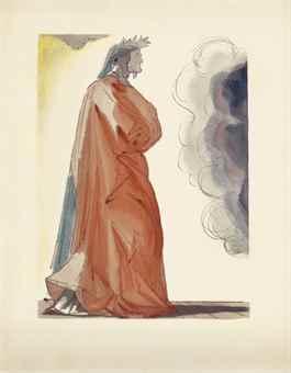 Salvador Dali-Dante Alighieri, La Divina Commedia (The Divine Comedy), Artie e Scienze, Salani, Italy, 1960-64-1964