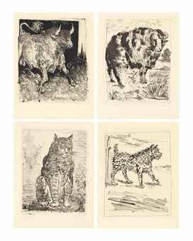 Pablo Picasso-G. L. Leclerc, Eaux-fortes originales pour des textes de Buffon, Martin Fabiani, Paris, 1942-1942