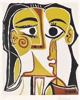 Pablo Picasso-Portrait Stylise-1962
