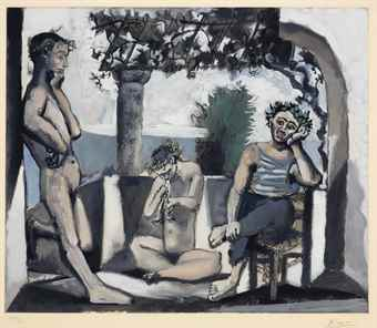 Pablo Picasso-After Pablo Picasso - Bacchanal-1955
