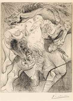 Pablo Picasso-Femme Torero II, from La Suite Vollard-1934