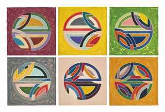 Frank Stella-Sinjerli Variations Squared with Colored Grounds-1981