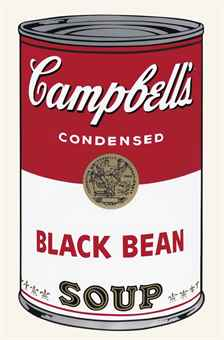 Andy Warhol-Black Bean, from Campbell's Soup I-1968