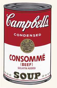 Andy Warhol-Beef Consomme, from Campbell's Soup I (1928-1987)-1968