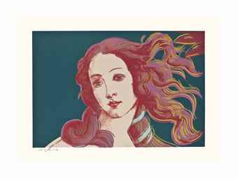 Andy Warhol-Details of Renaissance Paintings (Sandro Botticelli, Birth of Venus, 1482): One Plate-1984