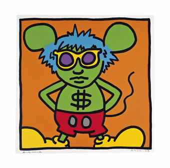 Keith Haring-Andy Mouse: One Plate-1986