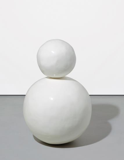 Gary Hume-Baby Snowman (White)-2002