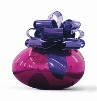Jeff Koons-Smooth Egg with Bow (Magenta/Violet)-2009