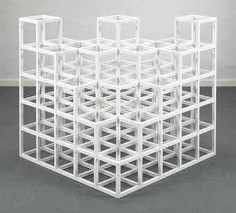 Sol LeWitt-Cube Structure Based on Five Modules-1975