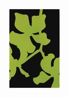 Gary Hume-Green and Black Orchid-2000