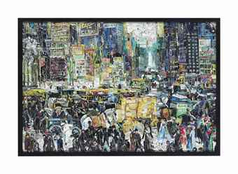 Vik Muniz-New York City, after George Bellows (Pictures of Magazines 2)-2011