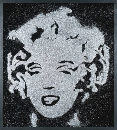 Vik Muniz-Black Marilyn (Pictures Of Diamond Dust)-2003