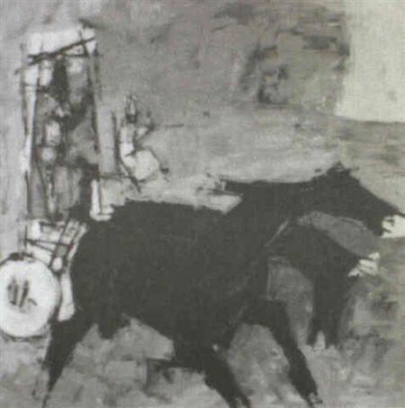Maqbool Fida Husain-Yakka-1961