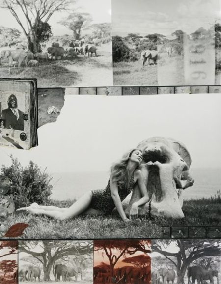 Peter Beard-Jerry Hall With Ele Skull In Montauk-1976