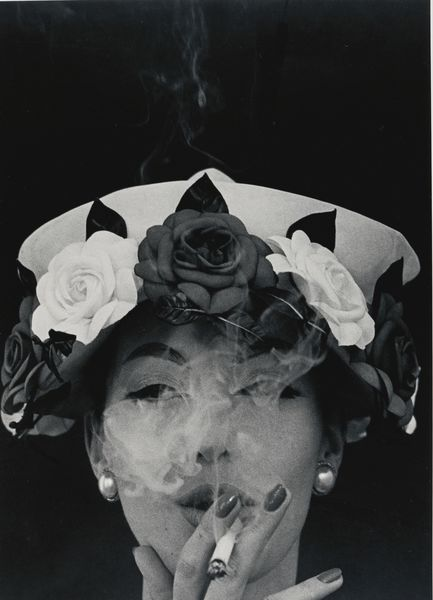 William Klein-Hat + 5 Roses (Vogue), Paris-1956