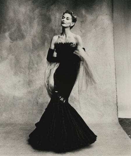 Irving Penn-Rochas Mermaid Dress (Lisa Fonssagrives-Penn), Paris-1950