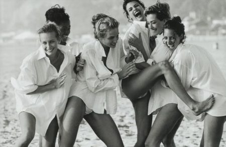 Peter Lindbergh-Linda Evangelista, Tatjana Patitz, Christy Turlington, Estelle Lefebure, Karen Alexander, Rachel Williams', Vogue Us, Beach Los Angeles-1990