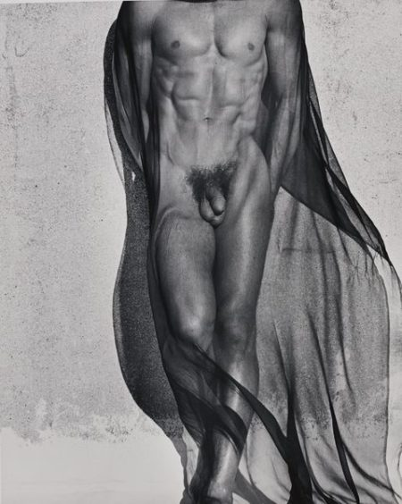 Veiled Male Nude, Full Length-1985