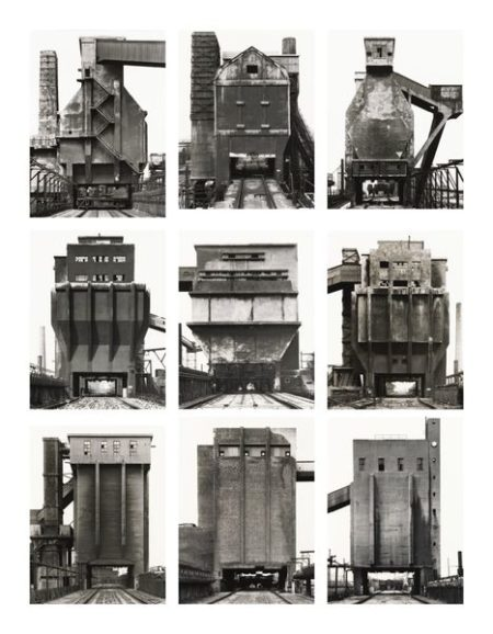 Bernd and Hilla Becher-Coal Bunkers, Frontal Views-1993