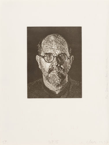 Chuck Close-Self Portrait #2-1997
