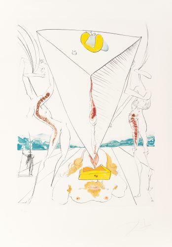 Salvador Dali-La Conquete du Cosmos I (Conquest of Cosmos I)-1974