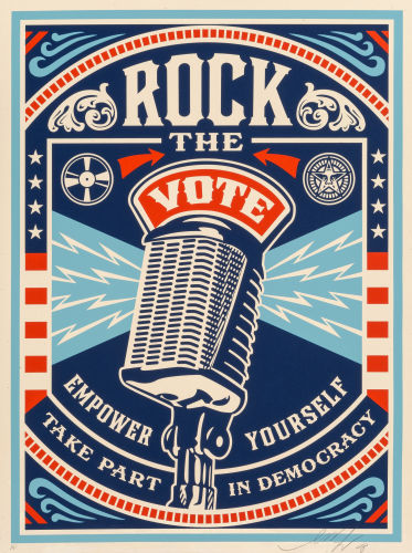 Shepard Fairey-One Hell of a LeaderMake ArtNot Warand Rock the-2008