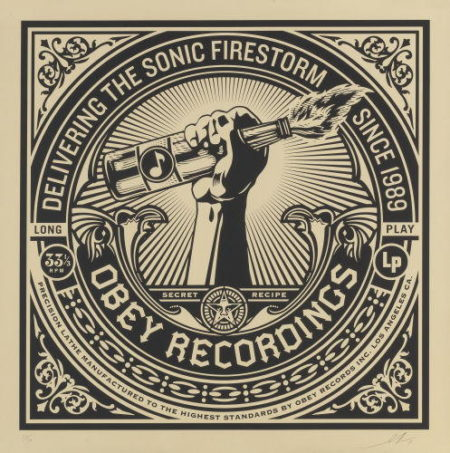 Shepard Fairey-Sonic Firestormfrom the 50 Shades of Black series-2014