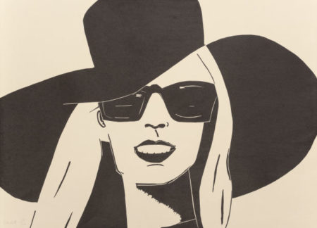 Alex Katz-Black Hat (Nicole)-2010