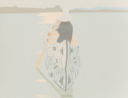 Alex Katz-Good Afternoon 2 (Gray Rowboat)-1975