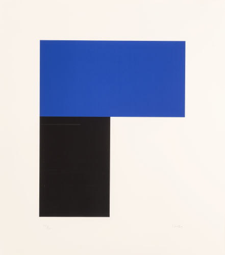Ellsworth Kelly-Blue with Black I-1974