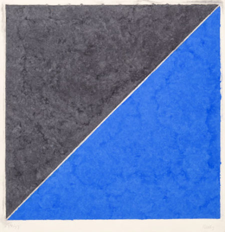 Ellsworth Kelly-Colored Paper Image XV (Dark Gray and Blue) from the Colored Paper Images series-1976