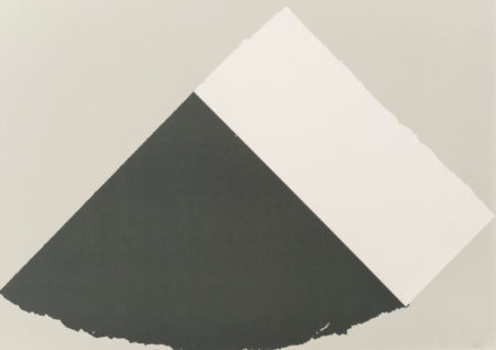 Ellsworth Kelly-Dark Gray and White-1979
