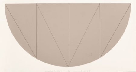 Robert Mangold-1/2 Brown Curved Area, Series V-1968