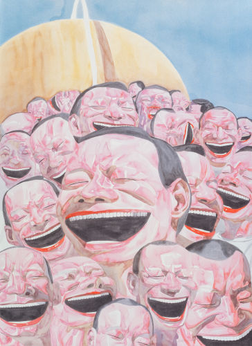Yue Minjun-Untitled (Smile-ism)-