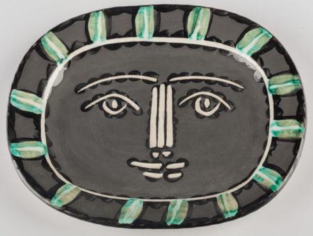 Pablo Picasso-Visage gris (A. R. 206)-1953