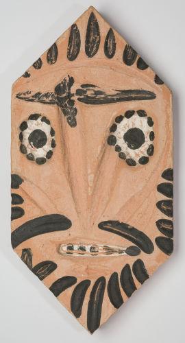 Pablo Picasso-Lozenge with Mask-1956