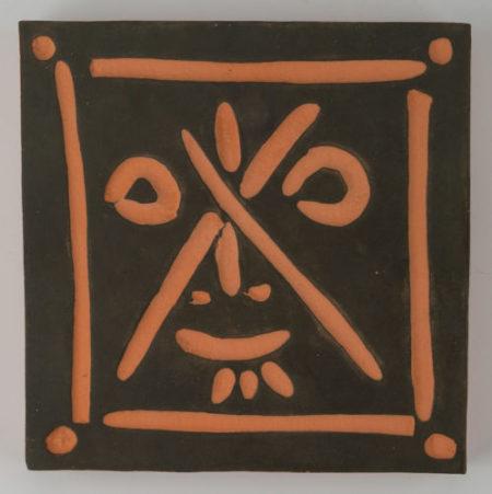Pablo Picasso-Visage aux traits en X-1968