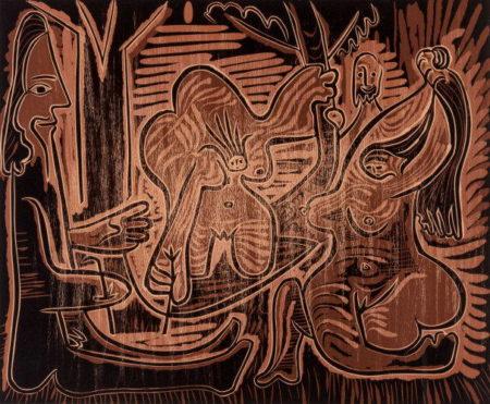 Pablo Picasso-Le dejeuner sur l'herbe-1962