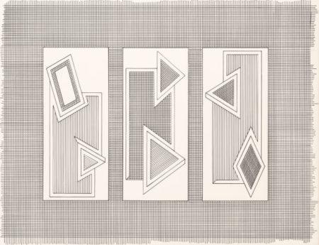 Frank Stella-Grid Stack-1970