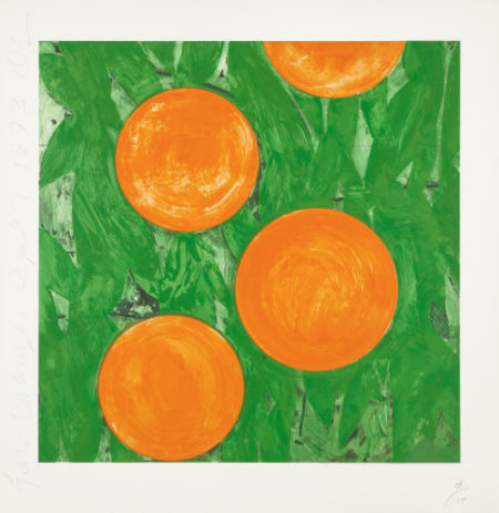 Donald Sultan-Four Oranges, April 2-1993